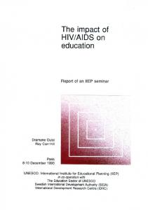 AIDS on education