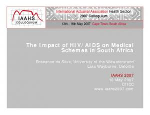 AIDS on Medical Schemes in South Africa