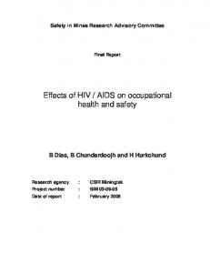 AIDS on occupational health and safety