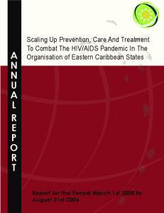 AIDS Pandemic In The Organisation of Eastern Caribbean States