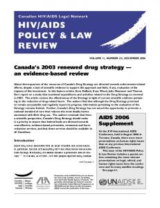 AIDS POLICY & LAW REVIEW