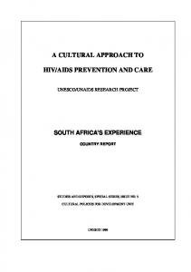 AIDS PREVENTION AND CARE