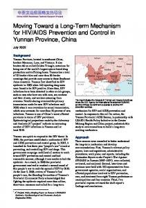 AIDS Prevention and Control in Yunnan Province, China