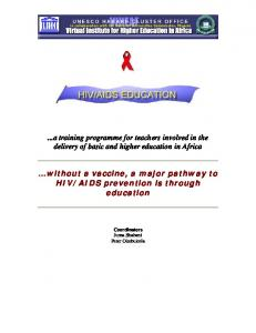 AIDS prevention is through education
