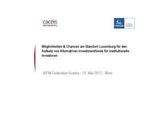 AIFM Federation Austria Mai Wien