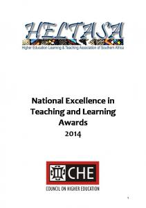 Aims of the National Excellence in Teaching and Learning Awards