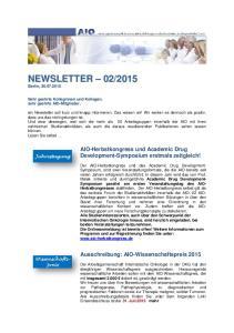 AIO-Herbstkongress und Academic Drug Development-Symposium erstmals zeitgleich!