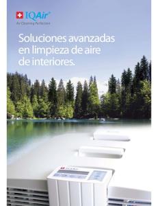 Air Cleaning Perfection. Soluciones avanzadas en limpieza de aire de interiores