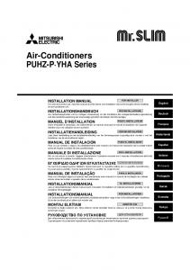 Air-Conditioners PUHZ-P YHA Series