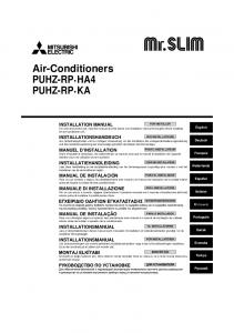 Air-Conditioners PUHZ-RP HA4 PUHZ-RP KA