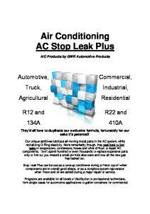 Air Conditioning AC Stop Leak Plus