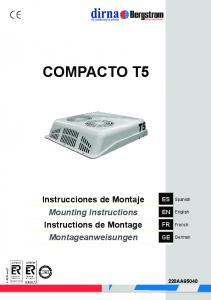 Air conditioning for vehicles COMPACTO T5