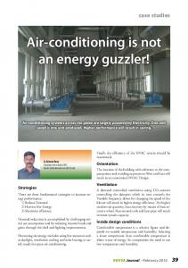 Air-conditioning is not an energy guzzler!