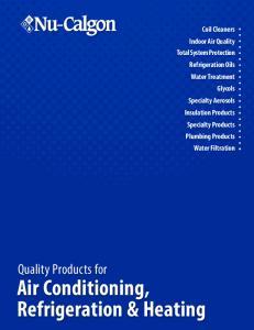 Air Conditioning, Refrigeration & Heating