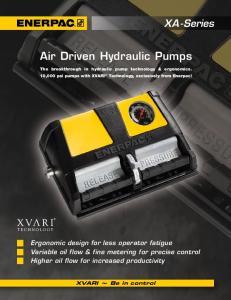 Air Driven Hydraulic Pumps