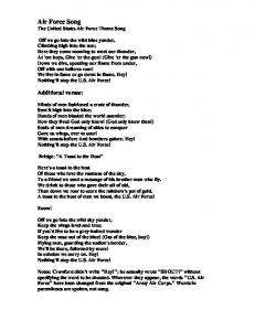 Air Force Song The United States Air Force Theme Song
