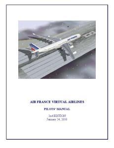 AIR FRANCE VIRTUAL AIRLINES PILOTS MANUAL