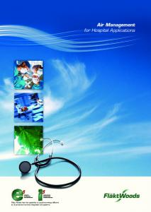 Air Management for Hospital Applications
