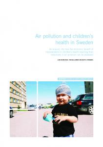 Air pollution and children s health in Sweden
