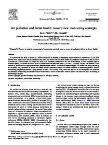 Air pollution and forest health: toward new monitoring concepts