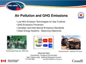 Air Pollution and GHG Emissions