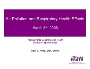 Air Pollution and Respiratory Health Effects