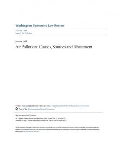 Air Pollution: Causes, Sources and Abatement