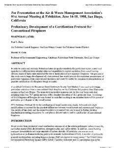 Air Pollution Control Engineer, San Luis Obispo County Air Pollution Control District