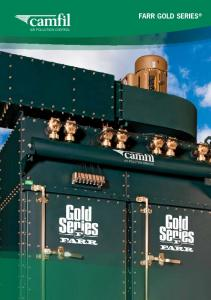 AIR POLLUTION CONTROL. FARR Gold Series