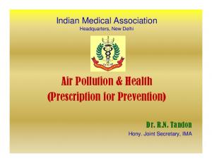 Air Pollution & Health (Prescription for Prevention)