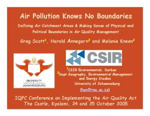 Air Pollution Knows No Boundaries