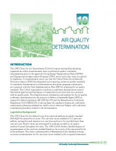 AIR QUALITY CONFORMITY DETERMINATION