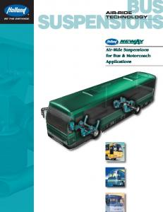 AIR-RIDE TECHNOLOGY. Air-Ride Suspensions for Bus & Motorcoach Applications