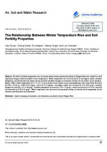 Air, Soil and Water Research. The Relationship Between Winter Temperature Rise and soil Fertility properties