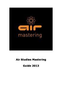 Air Studios Mastering