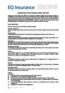 AirAsia Insure Travel Protection (Return-Trip Plan)