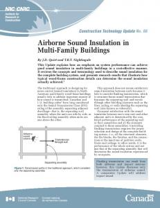 Airborne Sound Insulation in Multi-Family Buildings