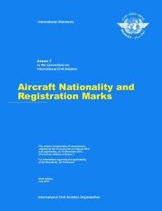 Aircraft Nationality and Registration Marks
