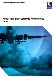 Aircraft noise and health effects: Recent findings