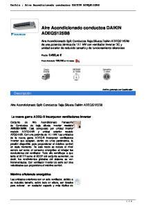 Aire Acondicionado conductos DAIKIN ADEQS125B8