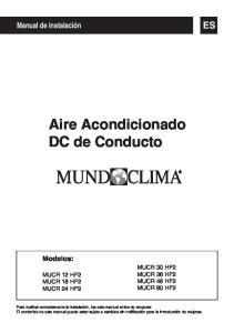 Aire Acondicionado DC de Conducto
