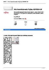 Aire Acondicionado Fujitsu ASY25UI-LM
