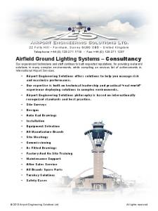 Airfield Ground Lighting Systems Consultancy