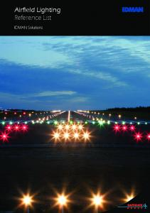 Airfield Lighting Reference List. IDMAN Solutions