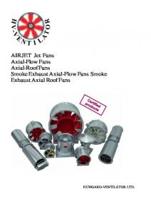AIRJET Jet Fans Axial-Flow Fans Axial-Roof Fans Smoke Exhaust Axial-Flow Fans Smoke Exhaust Axial Roof Fans
