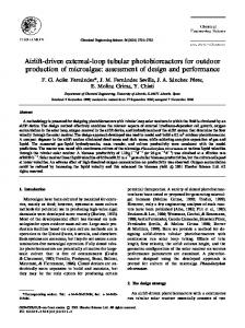 Airlift-driven external-loop tubular photobioreactors for outdoor production of microalgae: assessment of design and performance