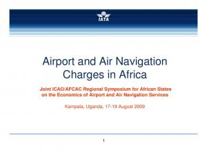 Airport and Air Navigation Charges in Africa
