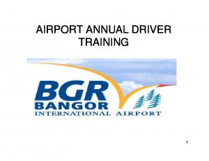 AIRPORT ANNUAL DRIVER TRAINING