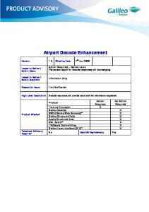 Airport Decode Enhancement
