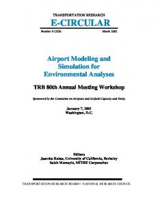 Airport Modeling and Simulation for Environmental Analyses